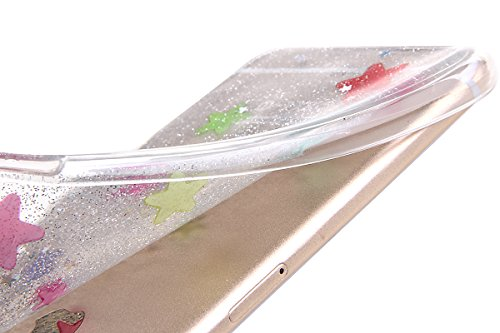 iPhone 5S Hülle,iPhone SE Case,iPhone 5 Cover - Felfy Ultradünnen Klar Delfine Pattern Handyhülle für iPhone 5S 5 Soft Flexible Weich TPU Silikon Schutzhülle Etui Bumper Case + 1x Schutzfolie Screen + Sliber Glitter