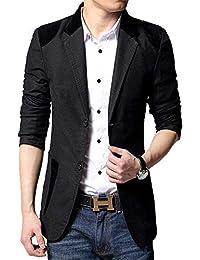 41bfdedcb83c Herren Slim Fit Anzugjacken Stilvolle Casual Freizeit Blazer Fashion Business  Sakko Kurzmantel Baumwollsakko Revers Langarm Männer