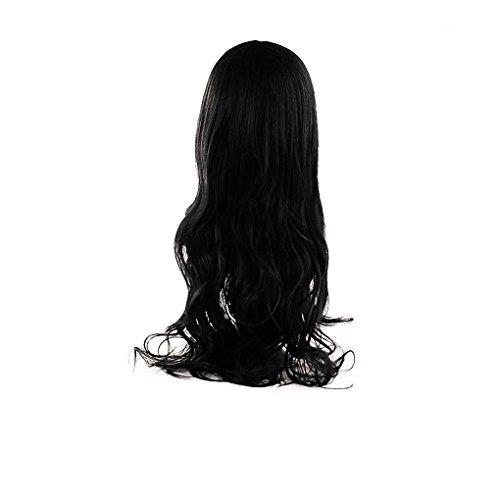 Babysbreath Lange gewellte halbe Perücken Hitzebeständiges synthetisches Haar für Frauen Damen Schwarz
