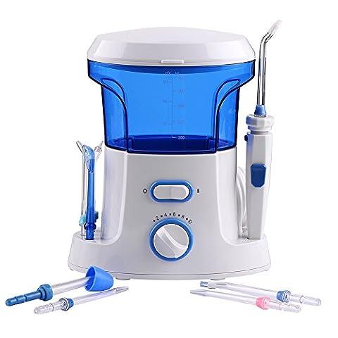 Prettyuk Water Flosser Irrigator Orale Pour Famille Machine Dental Rechargeable Avec 7 Conseils Soin de Dent