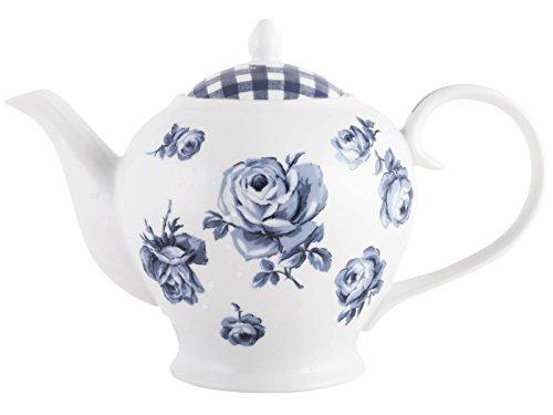 Katie Alice Creative Tops Théière, Porcelaine, bleu, 15.500x19.000x14.500 cm