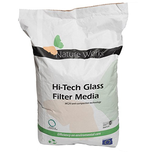 Verre filtrant Hi-Tech de Nature Works (20 kg). Alternative écologique au sable, grain Ø : 0,8 mm