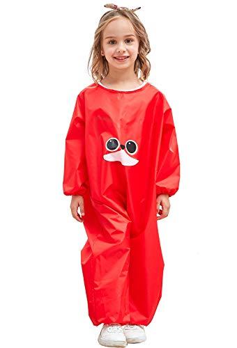 DAWNTUNG - niños delantal larga impermeable para bebés niños escolar con mangas...