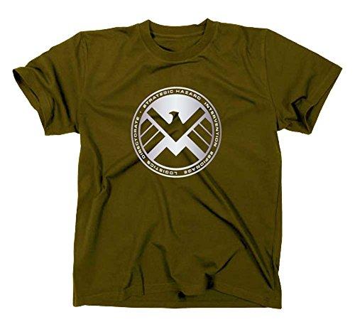 S.H.I.E.L.D. Logo T-Shirt, shield, L, oliv