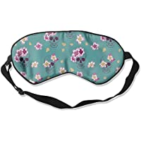 Skull Flower Green Natural Silk Sleep Mask Comfortable Smooth Blindfold for Travel, Relax preisvergleich bei billige-tabletten.eu