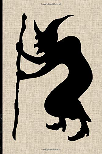 Halloween Notebook: Silhouette Witch Lined Notebook