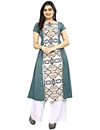 SJ Trendz Kurti For Women Latest Design Party Wear Bollywood Style Designer Kurti 2018 Printed Long Kurti Multicolor...