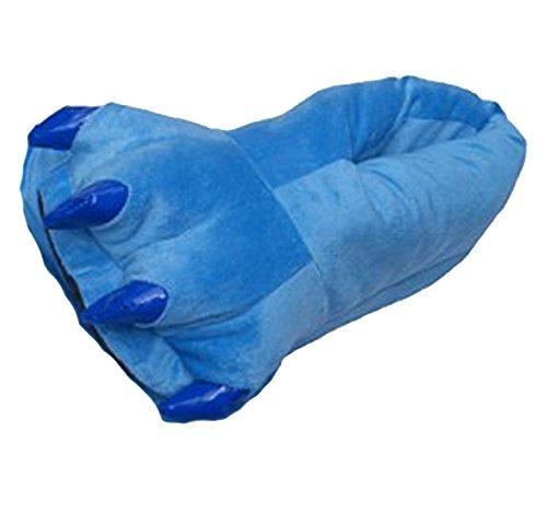 für Erwachsene, Stil: große Monsterfüße mit Krallen, ideal für Cosplay und Kostümparty, Blau - blau - Größe: Größe S (Disney Hausschuhe Für Erwachsene)