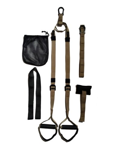 Skaize Military Tactical Suspension Trainer Schlingentraining mit Türanker, Extender Gurt, Outdoor Anker