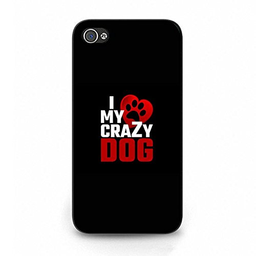 Funny Lively I Love My Dog Phone Case Cover Solid Skin Protetive Shell for Iphone 4/4s Dog Dream Color103d