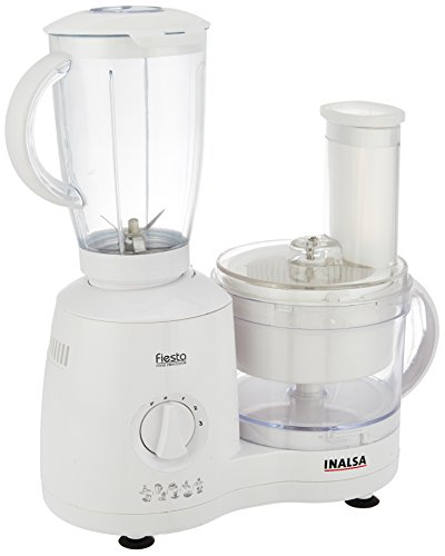 Inalsa Fiesta 650-Watt Food Processor (White/Grey)