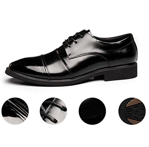 ... Zapatos Nuevos Para Hombres Zapatos Redondos Zapatos Planos Zapatos  Transpirables Zapatos Individuales Zapatos De Encaje Negros