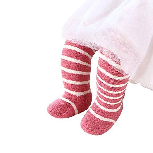 AmyGline Winter Baumwolle gestreift Baby Mädchen Socken Verdickung Frottee Socken Baby Socken über den Kniestrümpfen Bootie -