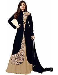 VIHA Women's Banglore Silk Embroidered Dress Material