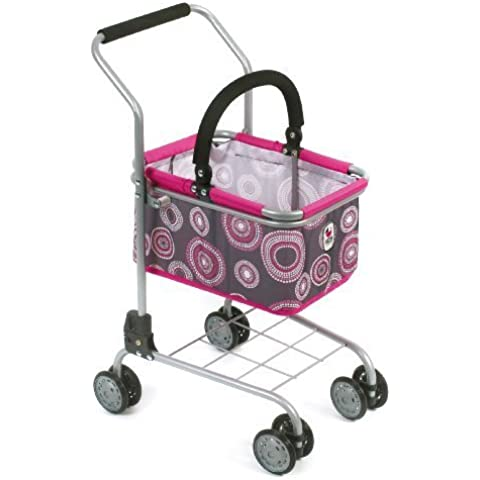 CHIC 2000 Bayer Childs Supermarket Trolley with Removable Shopping Basket (Hot Pink Pearls) by BAYER CHIC 2000