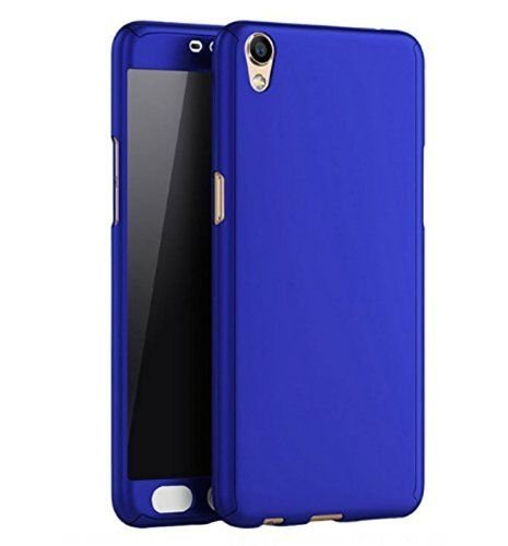 DELHI TRADERSS Front Back Full 360° Degree Hard Case Cover For OPPO A37 / A37F (Blue)