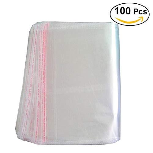 (bestomz klar Zellophan Candy selbstklebende Kunststoff Bag Leckerli-Beutel 30x 40cm 100Stück)
