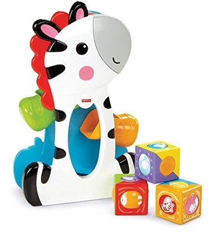 Fisher-Price Roller Blocks Tumblin' Zebra Multi, juguetes de habilidades motoras, multicolor (Mattel CGN63)