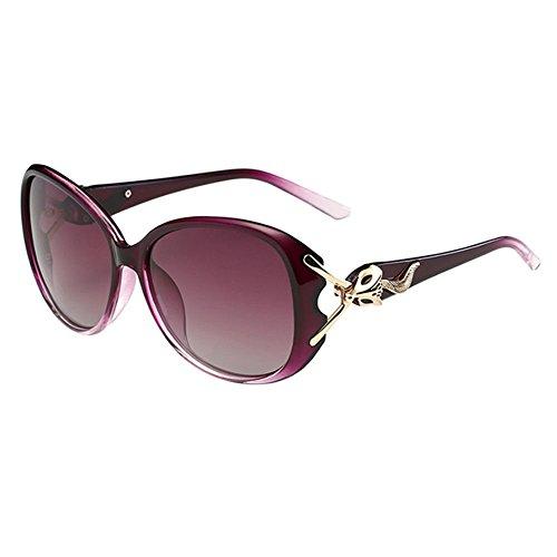 Haodasi Ellipsen Rahmen Kurzsichtig Sonnenbrille Farbverlauf Kurzsichtigkeit Brille Anti-UV Brillen