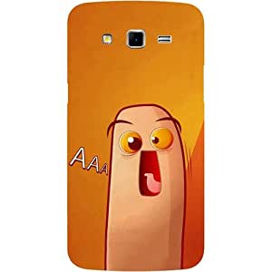 Casotec Yellow Cartoon Design Hard Back Case Cover for Samsung Galaxy Grand 2 G7102 / G7105