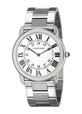 Cartier Women's Ronde Solo De Cartier 36mm Steel Bracelet & Case Quartz Silver-Tone Dial Watch W6701005