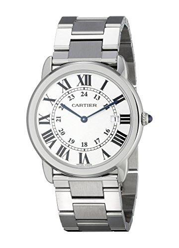 Cartier W6701005 - Orologio da polso da uomo, cinturino in acciaio inox