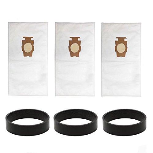 Kirby Staubsauger Teile (VacFit Staubbeutel für Kirby Stil F/T Sentria Modell Staub Tasche Ersatz für Kirby Teil 204808Geschirr 204811Filtration Vakuum Tasche Vakuum Gürtel Staubsauger Aufsätze (3Taschen + 3Riemen))