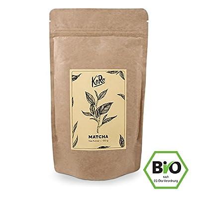 KoRo ? BIO Matcha bio en poudre ? 100 g ? thé vert en poudre ? Matcha-Latte ? Smoothies ? sans arôme ? vegan ? poudre ? pâtisserie ? boissons