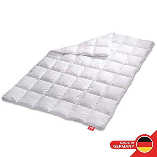 Medicate Allergiker Ganzjahresdecke 135 x 200 cm, klimaregulierende Bettdecke aus Mikrofaser, Decke kochfest waschbar 95°C, Herstellung in Deutschland -