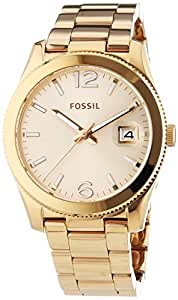 Fossil - ES3587 - Montre Femme - Quartz Analogique - Bracelet Acier Inoxydable Or et Rose