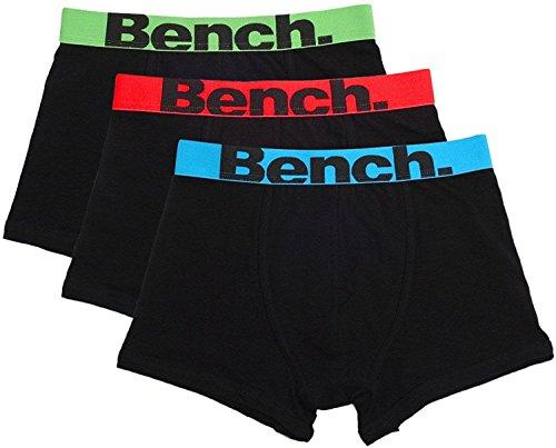 Bench Baumwolle Hipster Trunks (3er Packung) Black (Multicoloured Waistbands)