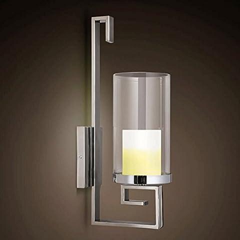 FHK,Wandleuchten Kerzenständer führte modernen minimalistischen Schlafzimmer Wandlampe Hotel Nachttischlampen Wohnzimmerwandleuchte Wandleuchte Dekorative Wandleuchten