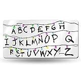 Weihnachtsbeleuchtung, Buchstaben-Kennzeichen, Aluminium, 30,5 x 15,2 cm