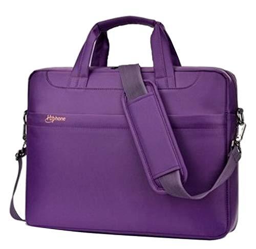 LJWLCH,Männer Und Frauen Computer Tasche Handtasche Aktentasche Querschnitt Business Bag Licht Wasserdichte Computer Schutz Tasche Umhängetasche,Purple-15.6inches