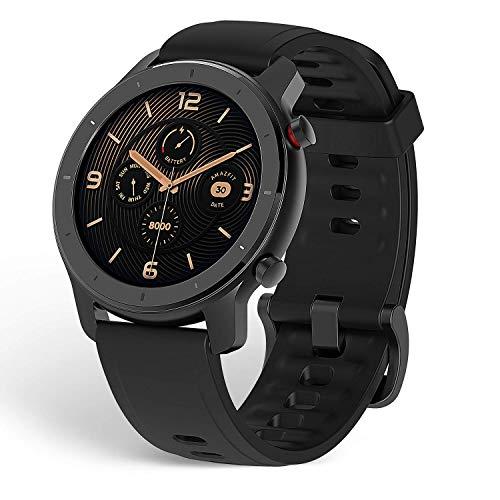 Oferta de Amazfit GTR 42 Smartwatch Reloj Inteligente con Frecuencia Cardíaca y Seguimiento de Actividad, 42 mm, Batería de Larga duración 12 Días Negro