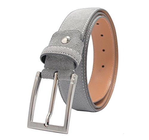 Wildleder Gürtel für Männer Pin Buckle Jeans Gürtel in Grau