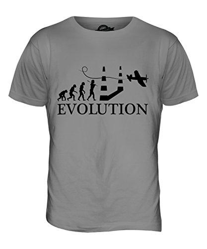 CandyMix Luftrennen Air Race Evolution Des Menschen Herren T Shirt Hellgrau