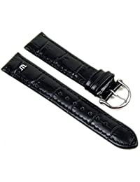 Maurice Lacroix Louisiana XL Replacement Band Watch Band Leather Strap black leather 20835S, width:14mm
