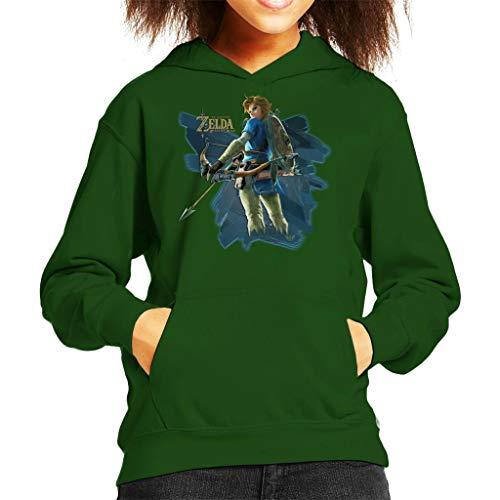 Link Zelda Breath of The Wild Arrow Kid's Hooded Sweatshirt