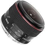 Meike Fisheye - Obiettivo ultra grandangolare per fotocamere Canon M, lunghezza focale 6,5 mm e apertura F2.0