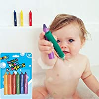 FairOnly 6PCS/Set Baby Bathroom Crayons Washed Color Bath Toy