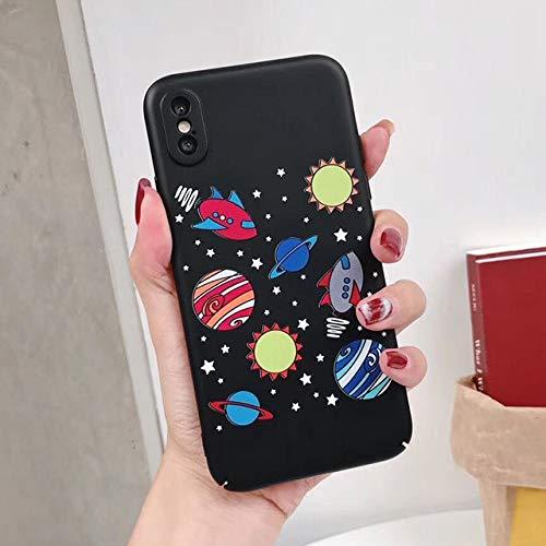 XMDSJKGC Hülle Handyhülle Bunter Sternenklarer Himmel Telefon Kasten Für iPhone X Fall Für iPhone 6 6S 7 8 Plus Abdeckungs Karikatur Universum Reihen Fälle Harter Pc Capa, Art 4, Für iPhone 8Plus