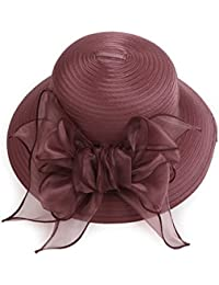 Beach Sun Hat Women's Bowknot Floppy Straw Sun Hat Wide Brim Beach Sun Visor Hat With More Colors Soft and comfort