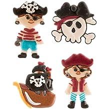 Piratas comestible glaseado de tartas conjunto de 4