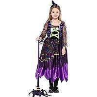 XINGMU Vestido De Halloween Niños Falda De Color De Carnaval Cute Little Devil Jugar Etapa Disfraces Violeta 120Cm.