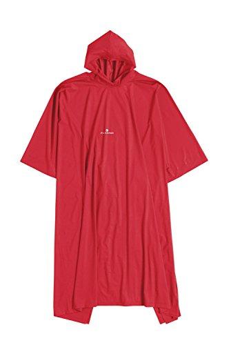 Ferrino Poncho Junior, Mantella Unisex, Rosso, 120 cm