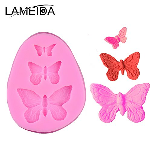 lameida Cute Schmetterling Silikon Kuchen Form Muffin Schokolade Sweet Backform Kuchen Jelly Ice Silikon Fondant Form Backen Form Decor für Home Kinder - Molds Moulds Silikon