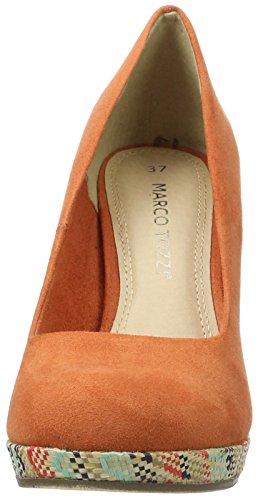 Marco Tozzi 22416, Scarpe con Plateau Donna Arancione (Orange 606)