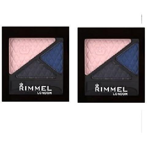 (Pack 2) Rimmel Glam'eyes Trio Eye Shadow ~ Sapphire Moonstone 761 by Rimmel