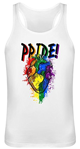 Pride Heart Tank Top T-Shirt for Men & Women - 100% Soft Cotton - High Quality DTG Printing - Custom Printed Unisex Clothing